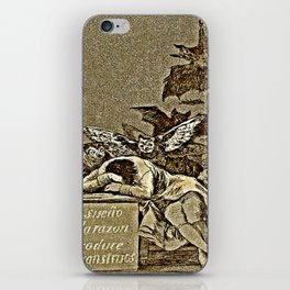 """Caprice No. 43, """"The Sleep of Reason Produces Monsters."""" iPhone Skin"""
