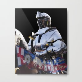 Knight and King Richards Standard Metal Print