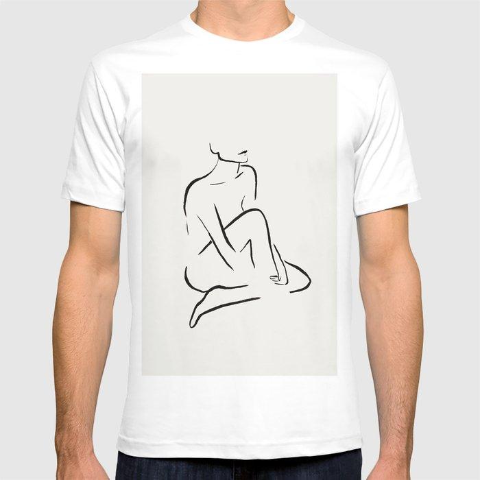 Nude Silhouette Shirt Gif