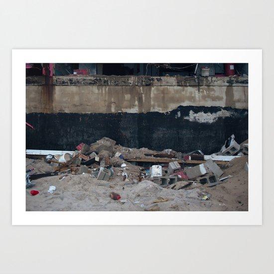 Under the Boardwalk, After Sandy Art Print
