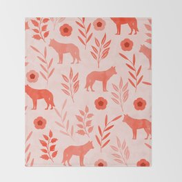 Forest Animal and Nature II Throw Blanket