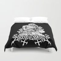 diver Duvet Covers featuring Holy Diver by brutalitees