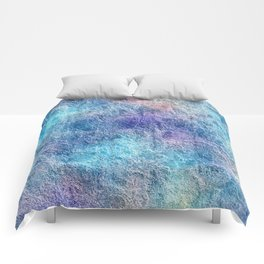 Colorful Cool Tones Blue Purple Abstract Comforters