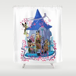 The Gang is All Here! Shower Curtain