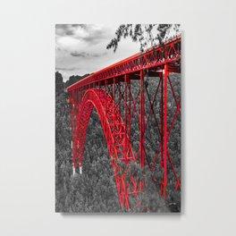 New River Bridge Red Architectural Print Metal Print