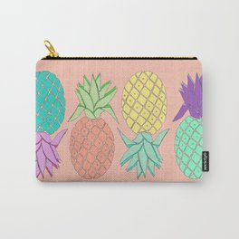 pineapple large coral Carry-All Pouch