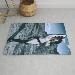 2957 Cowgirl Cate Six Shooter Domme - Cowboy Ranch Classic Editorial Fashion Erotica Rug