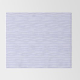Zebra Print - Lavender Sorbet Throw Blanket