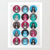 robots Art Prints featuring Robots by Kakel