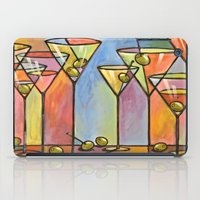 alcohol iPad Cases featuring Martini Bar ... Abstract alcohol art by Amy Giacomelli