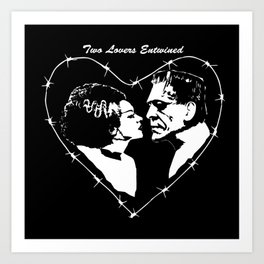 MAKE THIS OCTOBER AND HALLOWEEN A SCREAM WITH 2 LOVERS ENTWINED Art Print