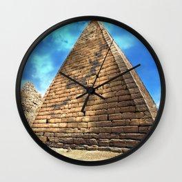 Kush Empire pyramids - Jebel Barkal - Sudan Wall Clock