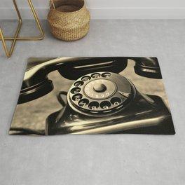 Vintage telephone Rug