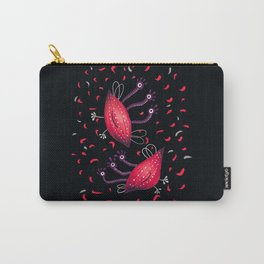 Cute Red Three Eyed Aliens Carry-All Pouch