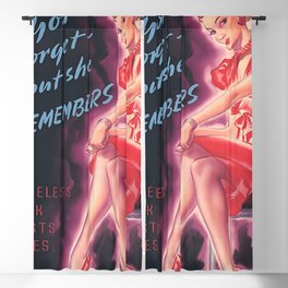 Vintage Poster- You Forget But She Remembers Blackout Curtain