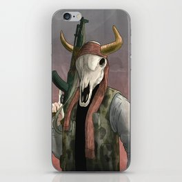 Undead Cow rebal iPhone Skin