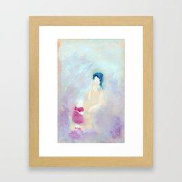 Mom and daughter. Framed Art Print