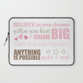 Quote Collage Laptop Sleeve