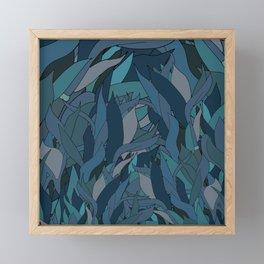 Seaweed in Ocean Blue Framed Mini Art Print