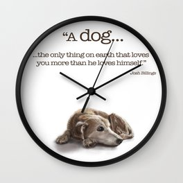 "Canna ""Missing You"" Wall Clock"