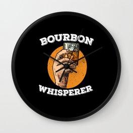 Bourbon Whisperer Whiskey Whisky Alcohol Wall Clock