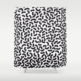 black worms Shower Curtain