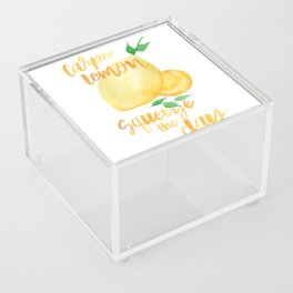 Carpe Lemon : Squeeze the Day Acrylic Box