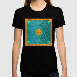 """Turquoise and Gold Mandala"" T-shirt"