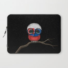 Baby Owl with Glasses and Slovakian Flag Laptop Sleeve