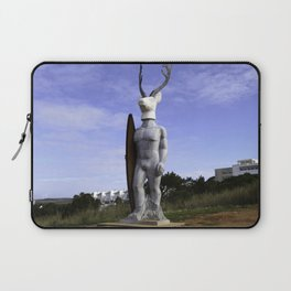 Veado Surfer Statue Standing Tall Laptop Sleeve