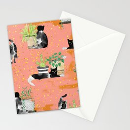 Cats & Plants #society6artprint ##cats #decor Stationery Cards