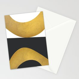 Gold circles Stationery Cards