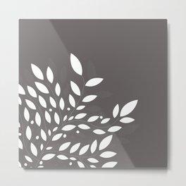 armonia 2 gray leaves Metal Print