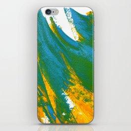 Wings Collection orange/cyan iPhone Skin