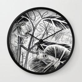 Lemur Leaf Frogs Wall Clock