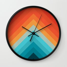 Geometric bands 09 Wall Clock