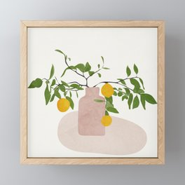 Lemon Branches Framed Mini Art Print