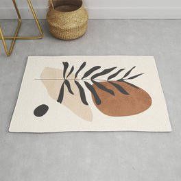 Abstract Art /Minimal Plant 12 Rug