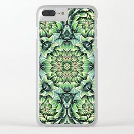Succulent Splendor Three Clear iPhone Case