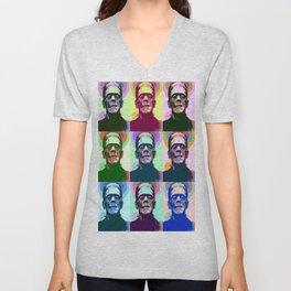 Frankenstein Pop Art Unisex V-Neck