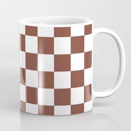 Checkered (Brown & White Pattern) Coffee Mug