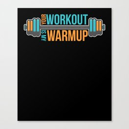 Fitness Workout Training Gym Cardio Dumbbell Gift Canvas Print