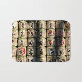 Japanese Sake Barrels Bath Mat