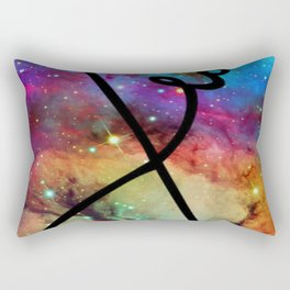 Galaxy Nebula Infinity Love Rectangular Pillow