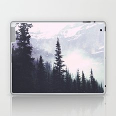 Evergreens in the fog edit Laptop & iPad Skin