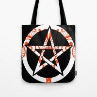 pentagram Tote Bags featuring Pentagram by Littlefox