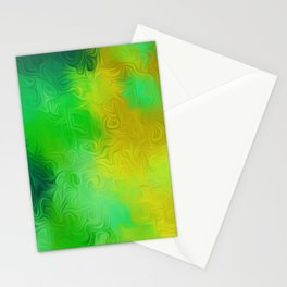 green and yellow painting texture abstract background Stationery Cards