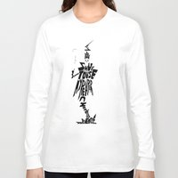 soul eater Long Sleeve T-shirts featuring lord death soul eater by Rebecca McGoran