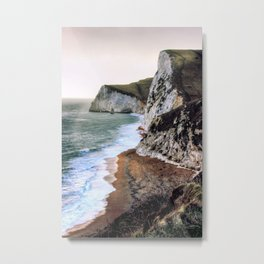 At the cliff edge Metal Print