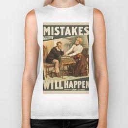 Vintage poster - Mistakes Will Happen Biker Tank